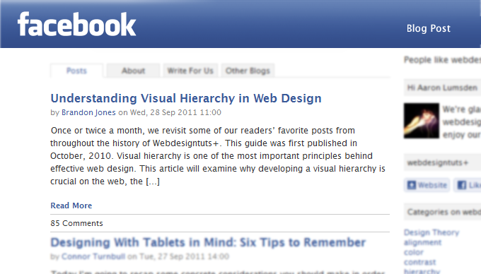 Design and Code an Integrated Facebook App