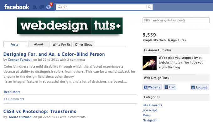 Design And Code An Integrated Facebook App: PHP and Jquery